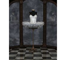 White Classical Ballet Tutu Reflections Photographic Print