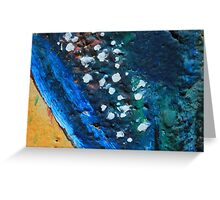 Blue and Yellow Abstract Painting Greeting Card