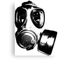 Using gas mask life is better Canvas Print