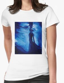 Ebbing into Blue Womens Fitted T-Shirt