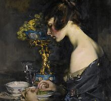 Sir James Jebusa Shannon  THE SEVRES VASE by Adam Asar
