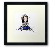 Sad Gamer Girl Framed Print