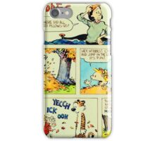 calvin and hobbes comic vintage iPhone Case/Skin