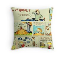 calvin and hobbes comic vintage Throw Pillow