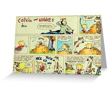 calvin and hobbes comic vintage Greeting Card