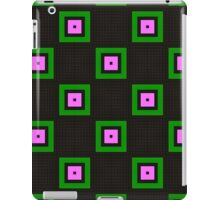 Pattern 43: Gray background with green and pink squares iPad Case/Skin