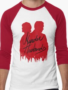 Murder Husbands [Red/Black] Men's Baseball ¾ T-Shirt