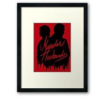 Murder Husbands [Black/Red] Framed Print