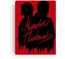 Murder Husbands [Black/Red] Canvas Print