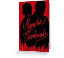 Murder Husbands [Black/Red] Greeting Card
