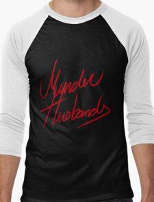 Murder Husbands [Text] Men's Baseball ¾ T-Shirt