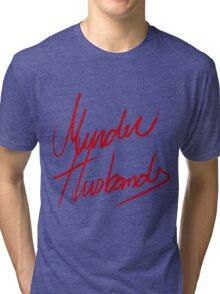 Murder Husbands [Text] Tri-blend T-Shirt