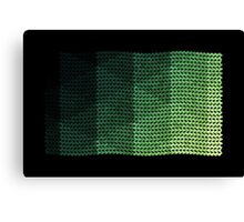 wavy knitted shapes geometry Canvas Print