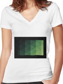 wavy knitted shapes geometry Women's Fitted V-Neck T-Shirt