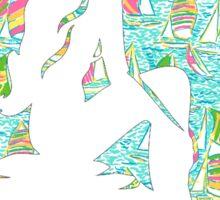 Lilly Pulitzer Inspired Mermaid - You Gotta Regatta Sticker