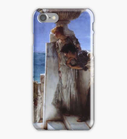 Sir Lawrence Alma-Tadema - A Foregone Conclusion iPhone Case/Skin