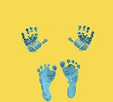blue baby hands and feet by goneficri