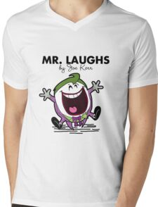 Mr Laughs Mens V-Neck T-Shirt
