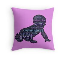 Baby Typography Throw Pillow