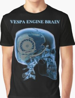 vespa engine brain skull Graphic T-Shirt