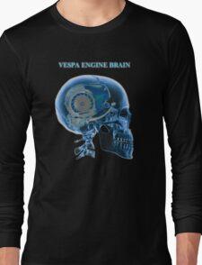vespa engine brain skull Long Sleeve T-Shirt