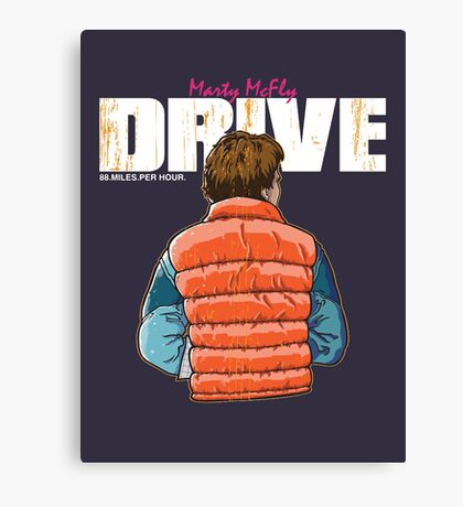 Back to the Future - Drive Canvas Print
