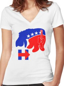 Eeyore for Hillary Women's Fitted V-Neck T-Shirt