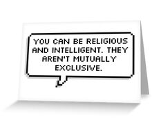 Religion and Intelligence Greeting Card