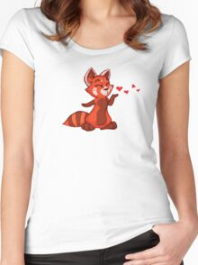 My Better Half - Red Panda (left) Women's Fitted Scoop T-Shirt