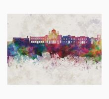Heraklion skyline in watercolor background  Kids Clothes