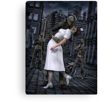 Zombies Kiss  Canvas Print