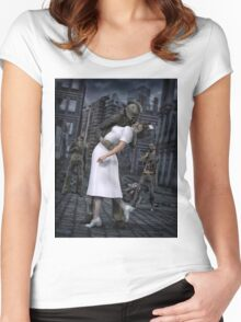 Zombies Kiss  Women's Fitted Scoop T-Shirt