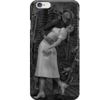 Zombies Kiss BW iPhone Case/Skin