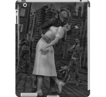 Zombies Kiss BW iPad Case/Skin