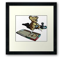 Teddy The Gamer Framed Print