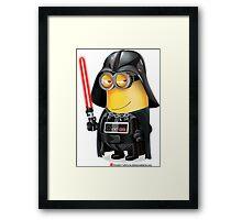 Minion Darth Vader Framed Print