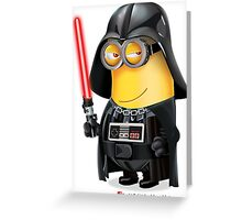 Minion Darth Vader Greeting Card