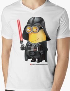 Minion Darth Vader Mens V-Neck T-Shirt