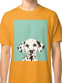 Dalmatian dog cute black and white puppy funny gift for dog owner with dalmatians  Classic T-Shirt