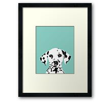Dalmatian dog cute black and white puppy funny gift for dog owner with dalmatians  Framed Print