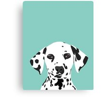 Dalmatian dog cute black and white puppy funny gift for dog owner with dalmatians  Canvas Print