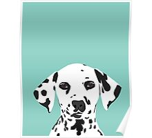 Dalmatian dog cute black and white puppy funny gift for dog owner with dalmatians  Poster