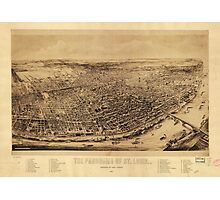 Panorama of St. Louis Missouri (1894) Photographic Print