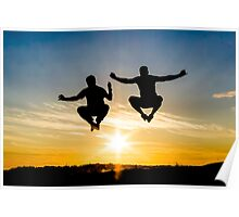 Sunset Backlighting Poster