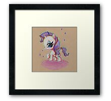 Rarity My Little Pony Framed Print