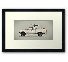 SF Guntruck Framed Print