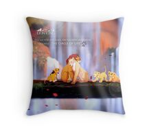 TLK All of The lion King Throw Pillow