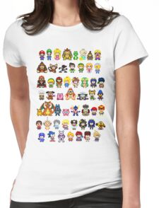 Super Smash Bros Wii U - Pixel Art Characters Womens Fitted T-Shirt