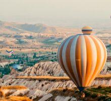 Flying hot air balloon over the Cappadocia Sticker