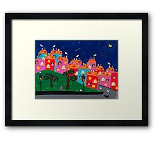 The night before the birth Framed Print